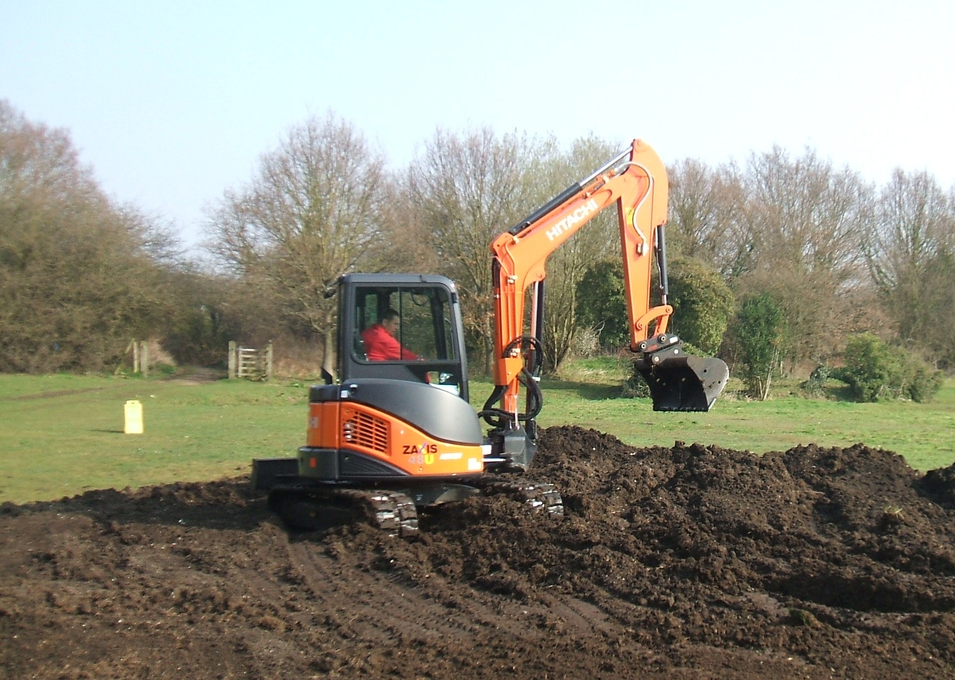 Mechanical control of Giant Hogweed using a 360 tracked excavator